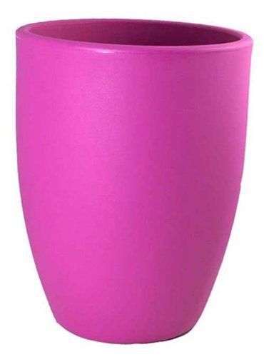 Chapelu TROCOM40C83 - Rondo, Vaso da Fiori in polietilene 40 cm, Colore: Magenta