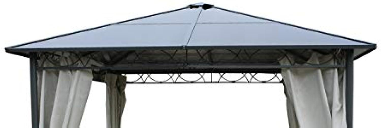 GRASEKAMP Qualitt seit 1972 Ersatzdach Hardtop Pavillon Meran 3x3m Doppelstegplatten Polycarbonat Braun