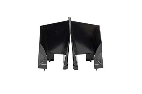 Schüco Einlauftrichter von DIWARO.® | für Kunststoff Rolladen-Führungsschienen | Preis pro Paar | schwarz