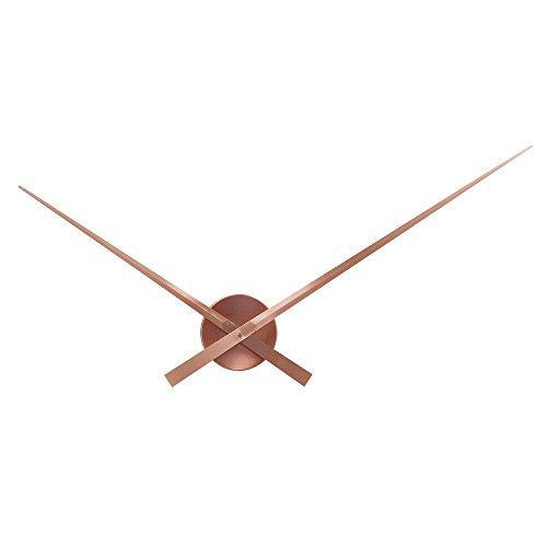 HAB & GUT (A01V17) Orologio a muro semplice, senza numeri - BIG TIME, orologio di alta qualità al quarzo, Colore: RAME, Ø Spazio richiesto: 90 cm, Materiale: aluminio (non è plastica)