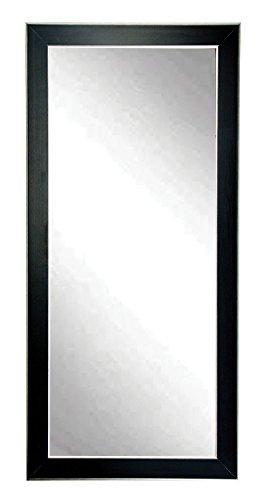 BrandtWorks BM11floor Accent Floor Mirror, 71 x 32, Black/Silver