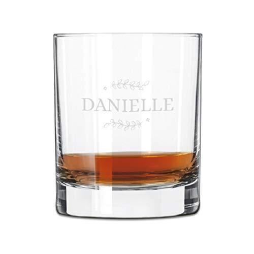 Bicchiere da Whisky Personalizzato con Nome - Bicchiere da Whisky Inciso con Nome: Personalizzabile con Testo, Diversi Design e Caratteri