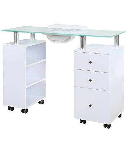 Glass top manicure table