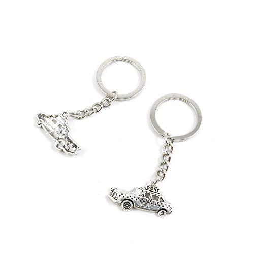 Antieke zilveren Tone sleutelhanger sleutelhanger sleutelhanger D7IB8G Taxi Compact auto sleutelhanger Ring Tag Sieraden Maken Bedels Antiek Zilver