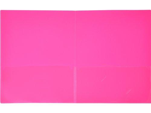 Lion Insta-Cover 2-Pocket Presentation Folder - Pack of 4, Hot Pink (91650-PK-4P)