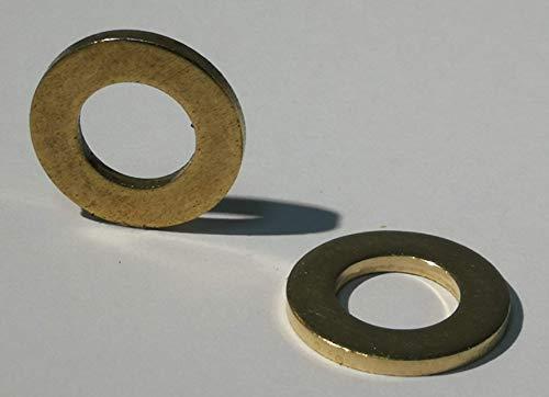 25 Stück Messing Unterlegscheiben DIN 125 Form A/Messingbeilagscheibe (Messing, M6)