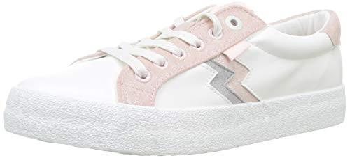 MTNG Attitude 69596, Zapatillas para Mujer, Blanco (Action PU Blanco/Softmet Gris Claro/Rosa Claro C46330), 37 EU