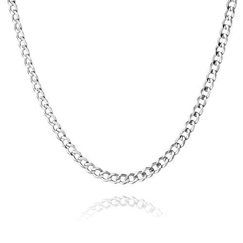 STERLL Herren Halskette Silber 925 50cm Ohne Anhänger Schmucketui Partner Geschenke