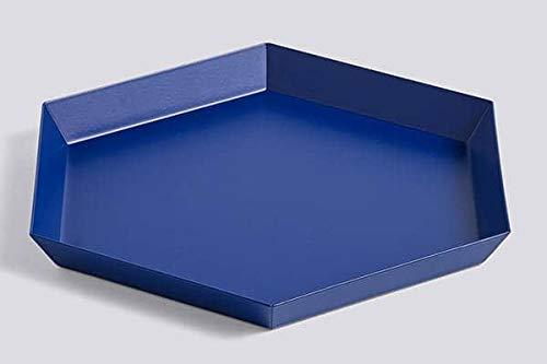 mds Kaleido, Plateaux en Acier laqué, Existe en Cinq astucieuses Formes géométriques pour des usages Multiples - Kaleido S - 22 x 19 cm, Bleu Royal