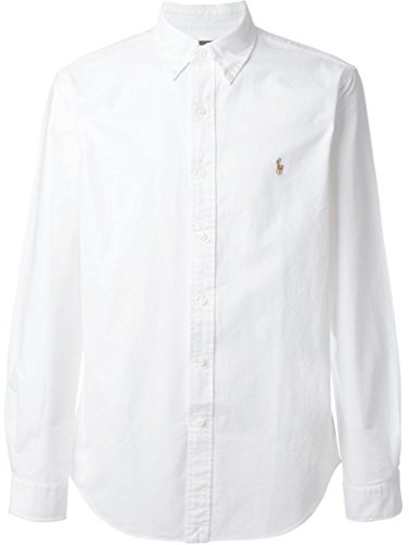Ralph Lauren Herren Solid Sport Oxford Shirt (XL, weiß)