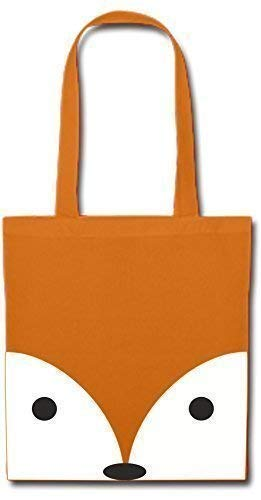 Mein Zwergenland Stofftasche mit langem Henkel, 2 L, Fuchs,orange