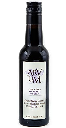 Arvum Sherry Vinegar, Oak Aged and Imported from Spain (12.75 oz)