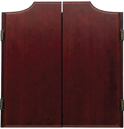 OUTLAW Stained Wooden Dart Board Cabinet, Wine