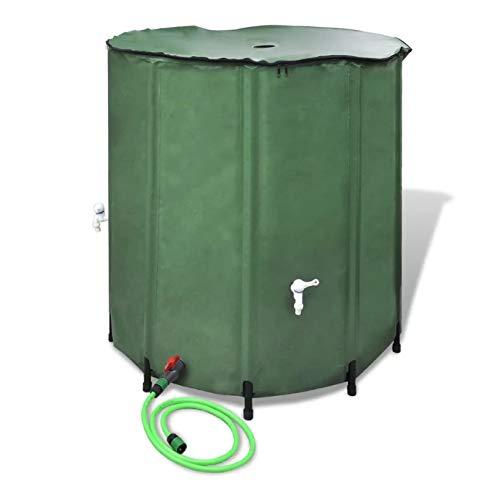 Zerone- Réservoir d'eau de Pluie, Seau de Stockage de Pluie Pliable avec Robinet avec Filtre, Capacité de 750 L, 100 x 100 cm