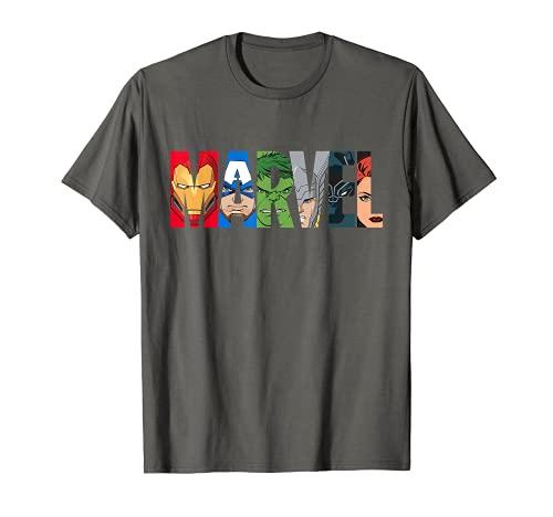 Marvel Logo Avengers Super Heroes T-Shirt