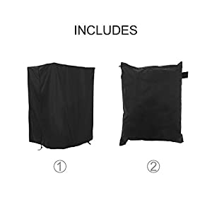 """MorNon Treadmill Cover for Folding Home Running Machines Treadmill Waterproof Sun Protection Cover Storage Cover with Zipper and Drawstring(46"""" x 38"""" x 66"""")"""