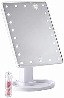 TOOGOO 22 LED Lumi/ère Press /écran Miroir De Maquillage De Bureau Lumineux R/églable Maquillage Miroir Lampe De Table De Bureau Rotatif Miroir De Maquillage Induction Miroir De Bureau