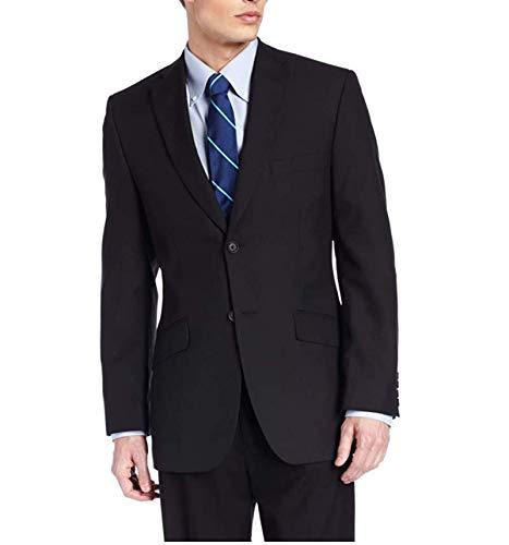 Kenneth Cole REACTION Men's Slim Fit Suit, Blue Stripe, 40 Regular
