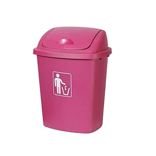 ffshop Cubo de Basura Bote de Basura al Aire Libre con Bote de Basura de la Cocina de Gran Capacidad Cubo de la Basura (Color : Pink, Size : 40l)