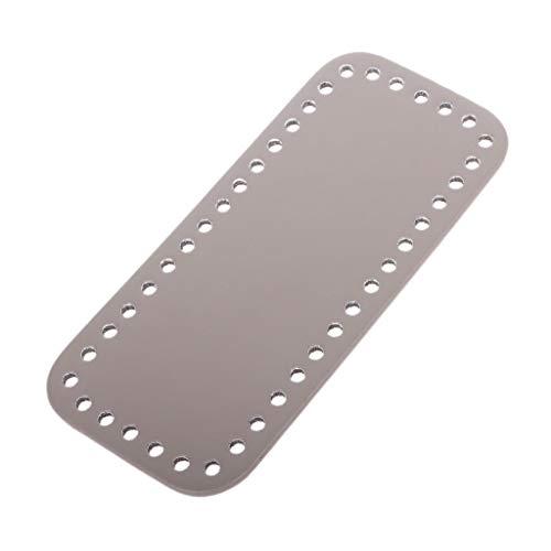 SimpleLife Rechteck Taschen unten mit Löchern für Strickbeutel PU Leder Handtasche DIY Schultertasche Zubehör