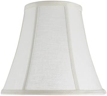 Aspen Creative 30040 Transitional Bell Shape Spider Construction Lamp Shade in Off White 11 product image