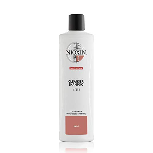 Nioxin System 4 Cleanser Shampoo for Color Treated Hair with Progressed Thinning, 16.9 oz