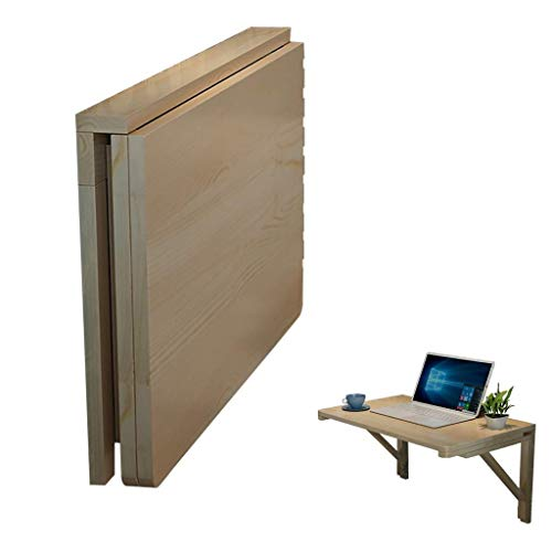 FFYN Wall Mounted Dining Table Wooden Folding Table, Smooth Desktop, Stable Sturdy...
