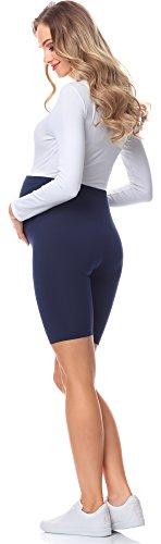 Be Mammy Leggins Premamá Cortos Embarazo Ropa Deporte BE20-228(Azul Marino, M)