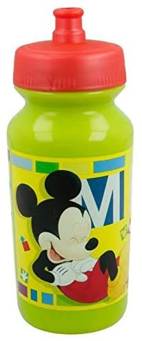 3148; Botella para Agua push-up Disney Mickey Mouse; Capacidad 340ml; Reutilizable; No BPA