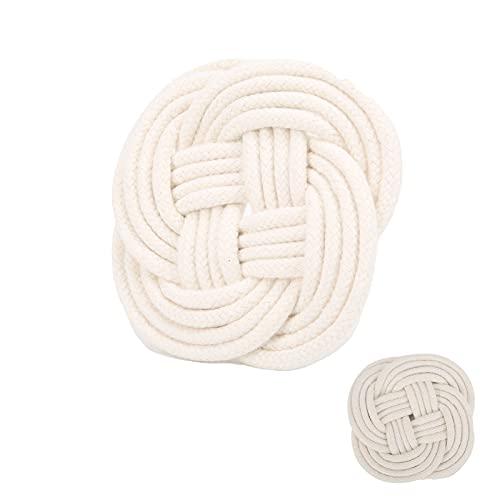 Posavasos de tejido, estera para taza de tejido, estera para tetera(Forma redonda)