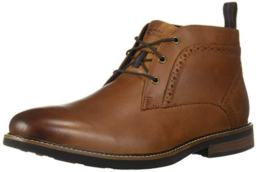 Nunn Bush Men's Ozark Plain Toe Chukka Boot with KORE Comfort Technology Tan Crazy Horse, 11 Wide