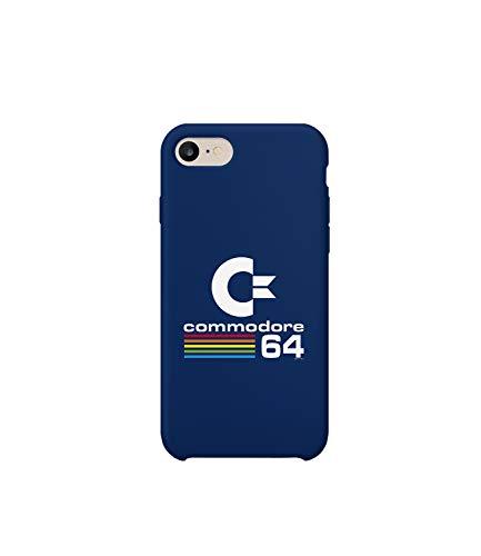GlamourLab Commodore 64 Colors Logo Cover_R3165 Protective Case Cover Hard Plastic Compatible with for iPhone X/XS Case Guscio Resistente in Plastica Dura Custodia