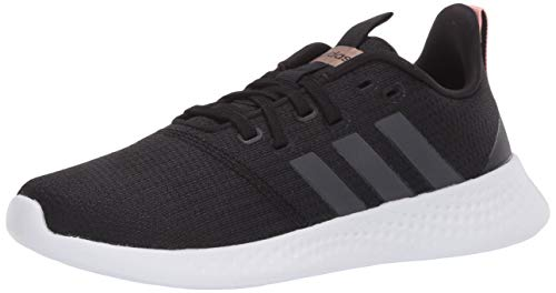 adidas Women's Puremotion Running Shoe, Black/Grey/Light Orange, 7.5