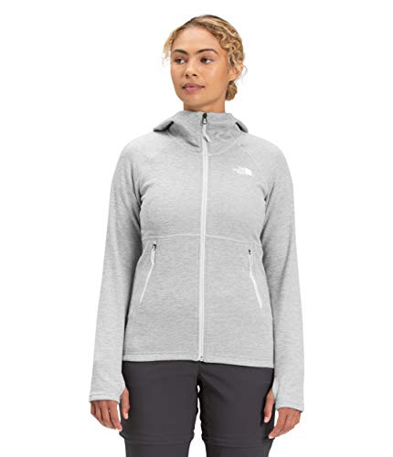 The North Face Canyonlands Sudadera con capucha para mujer, TNF gris claro Heather, 2 X