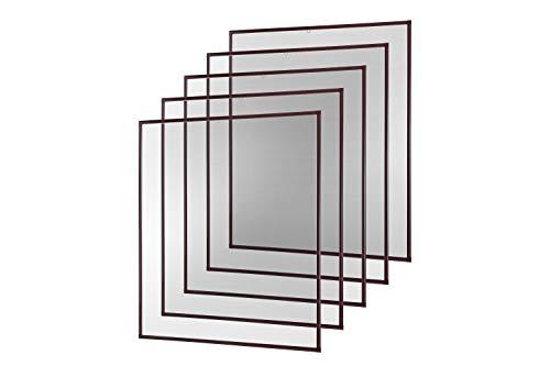 empasa Insektenschutz Fliegengitter Fenster Alurahmen Basic weiß oder braun 120 x 140 cm 5er SET