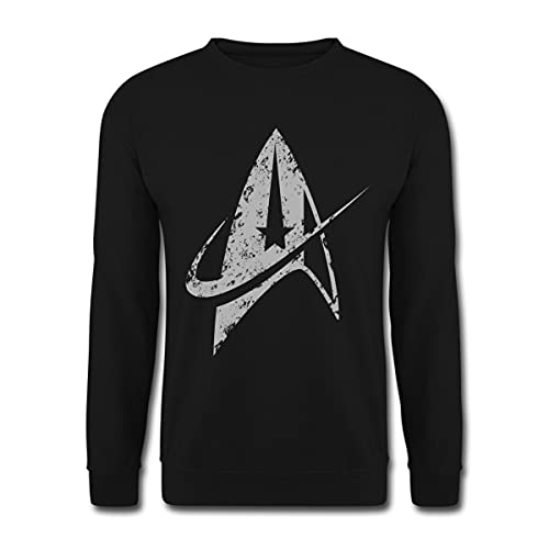 Star Trek Discovery Delta Commando Argent Sweat-Shirt Unisexe, M, Noir