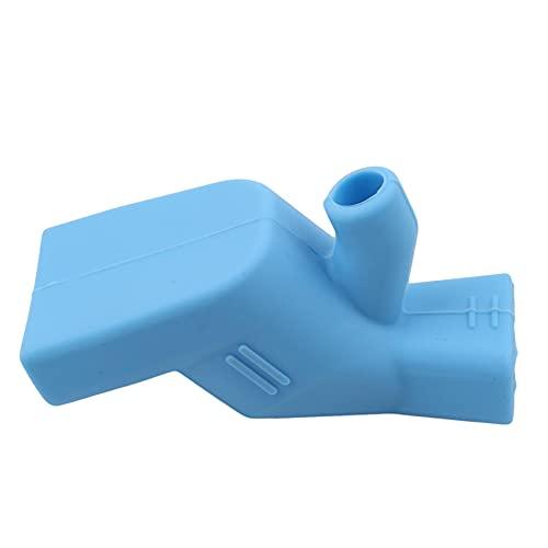 Huaicheng - Extensor de fregadero de silicona con forma de boca de pato para niños, color azul