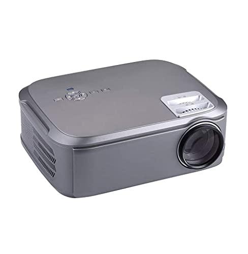 SMSOM Proiettore, Mini videoproiettore con 3500 Lumen, 1080P supportato, proiettore di Film Portatile, Portatile con televisore, HDMI, USB, VGA, AV per l'intrattenimento Domestico (Color : Gray)