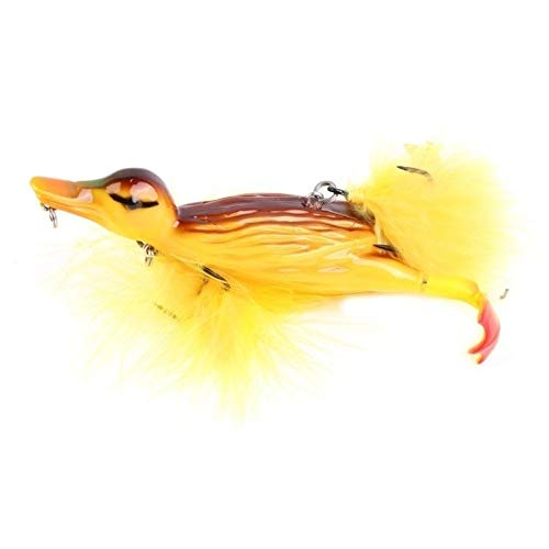 1piece 3D Duck Topwater Fishing Lure Yellow...