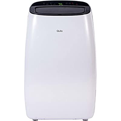 Quilo Portable Air Conditioner, 10000 BTU Standing AC Unit with Dehumidifier and Cooling Fan for Rooms Up To 450 Sq. Ft. with Easy-To-Install Window Kit, QP110WK
