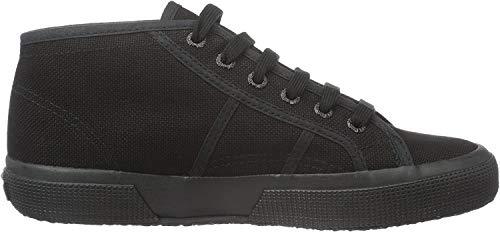 Superga 2754 Cotu, Unisex-Erwachsene Hohe Sneaker, Schwarz (Total Black), 37.5 EU,(4.5UK)