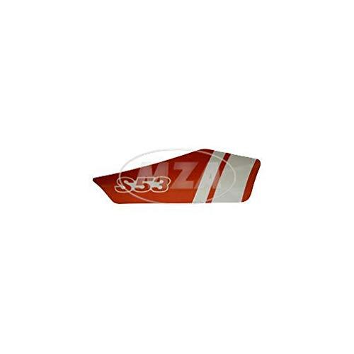 MZA Klebefolie für Seitendeckel, rechts, Rot/Weiß - Simson S53, S83