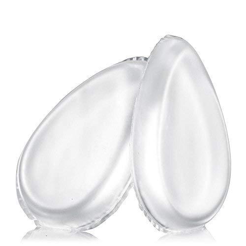 DealMux Puff di spugna in silicone da 2 confezioni, soffio cosmetico in silisponge lavabile per fondotinta liquido/gel, evidenziatore, trucco, correttore, primer
