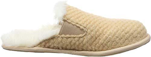 Sorel Women's Hadley Knit Slippers, Natural Tan, 7 Medium US