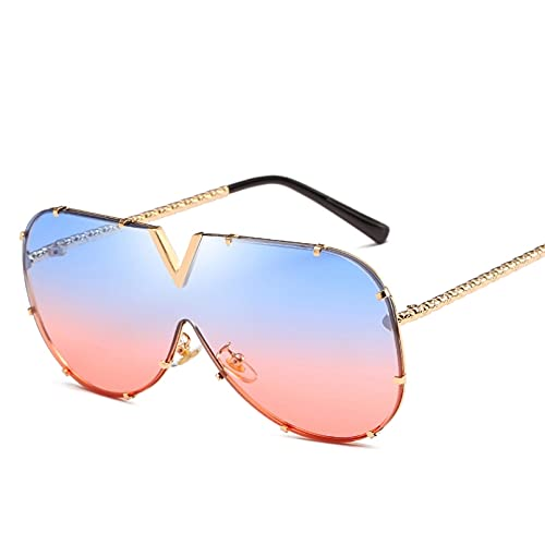HHAA Nuevas Gafas De Sol Cuadradas De Diseñador De Marca De Moda para Mujer, Lentes Amarillas, Gafas De Sol Vintage Retro para Mujer, Gafas Uv400