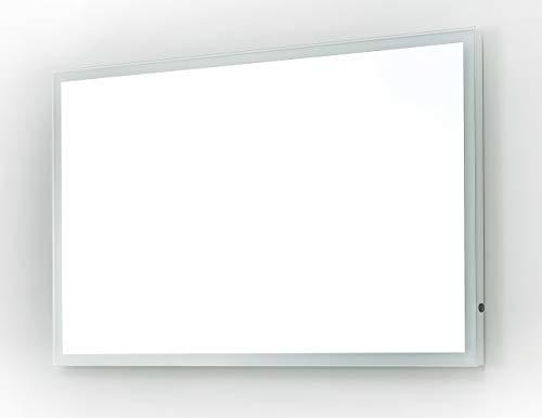 Design badkamerspiegel met rondom LED-verlichting in neutraal wit, tuimelschakelaar, badkamerspiegel, wandspiegel, lichtspiegel (120 x 60 cm (B x H))