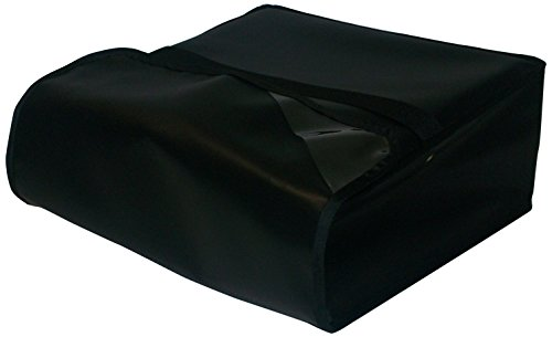 """TCB Insulated Bags PK-322-Black Insulated Pizza Delivery Bag, Holds 3 Each 20"""" Pizzas, 22"""" x 22"""" x 7"""", Black"""