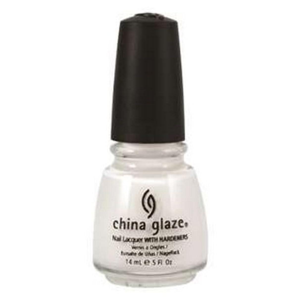 ベックス大学手紙を書く(6 Pack) CHINA GLAZE Nail Lacquer with Nail Hardner 2 - Snow (並行輸入品)