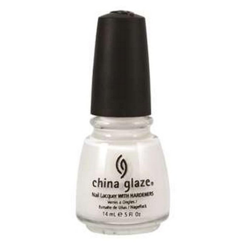 家族十分ではない誤解させるCHINA GLAZE Nail Lacquer with Nail Hardner 2 - Snow (並行輸入品)
