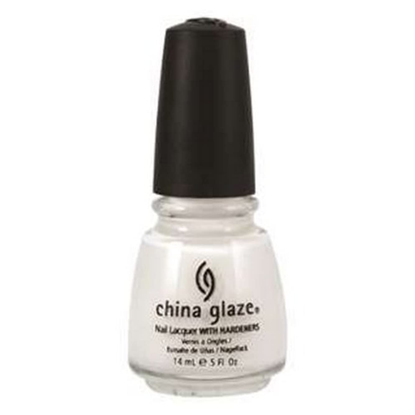 プレゼンター可決触覚(6 Pack) CHINA GLAZE Nail Lacquer with Nail Hardner 2 - Snow (並行輸入品)